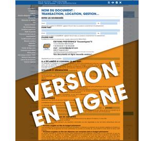 """Mandat exclusif de vente """"hors établissement"""" avec faculté de rétractation, en ligne"""
