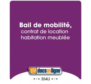 Bail de mobilité, contrat...