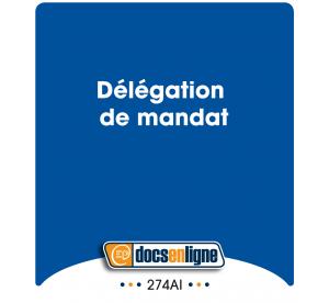 Délégation de mandat, en ligne