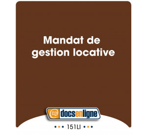 Mandat de gestion locative,...
