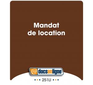 Mandat de location, en ligne