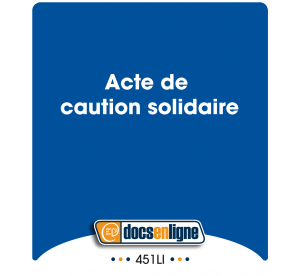 Acte de caution solidaire,...