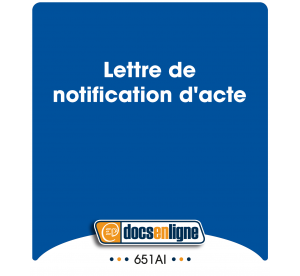 Lettre de notification...