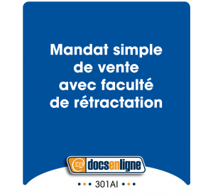 Mandat simple de vente avec...